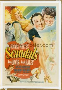 GEORGE WHITE'S SCANDALS 1sh '45 Joan Davis, Jack Haley, full-length sexy showgirl!