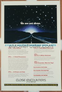 CLOSE ENCOUNTERS OF THE THIRD KIND ('77) 1sheet