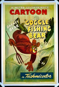 GOGGLE FISHING BEAR 1sheet