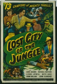 111 LOST CITY OF THE JUNGLE entire serial 1sheet