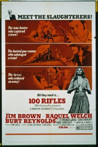 359 100 RIFLES 1sheet 1969