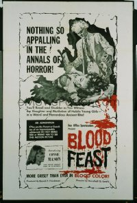 BLOOD FEAST ('63) 1sheet