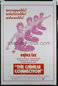 261 CHINESE CONNECTION 1sh '73 kung fu master Bruce Lee is back to kick you apart!