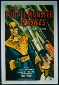 103 PURPLE MONSTER STRIKES entire serial, linen 1sheet