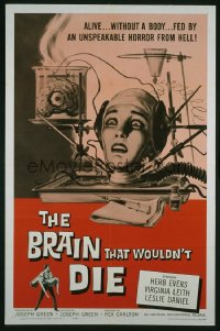 BRAIN THAT WOULDN'T DIE 1sheet