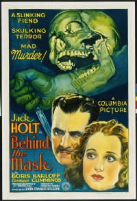 BEHIND THE MASK ('32) 1sheet