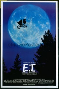 E.T. THE EXTRA TERRESTRIAL bike and moon style 1sheet