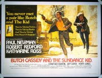 BUTCH CASSIDY & THE SUNDANCE KID British quad '69 Paul Newman & Robert Redford by Beauvais!