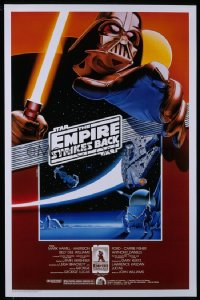 EMPIRE STRIKES BACK Kilian 1sh R90 George Lucas sci-fi classic, cool artwork by Noble!
