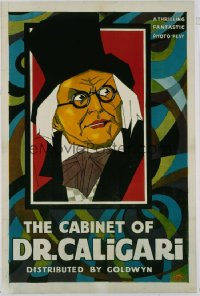 CABINET OF DR CALIGARI ('21) 1sheet