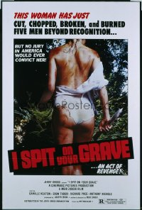 I SPIT ON YOUR GRAVE ('78) 1sheet