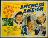 ANCHORS AWEIGH 1/2sh '45 art of sailors Frank Sinatra & w/ Grayson!