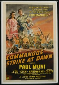 COMMANDOS STRIKE AT DAWN 1sheet