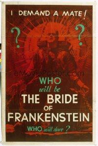 BRIDE OF FRANKENSTEIN 1sheet