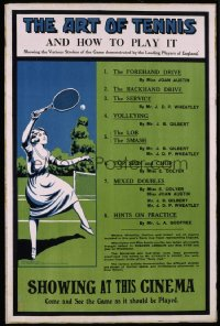 329 ART OF TENNIS & HOW TO PLAY IT English 1920