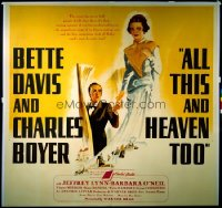ALL THIS & HEAVEN TOO six-sheet