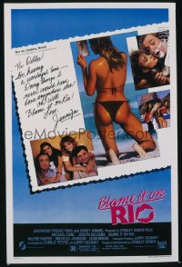 BLAME IT ON RIO 1sheet