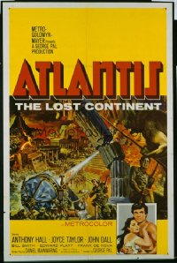 229 ATLANTIS THE LOST CONTINENT ('61) 1sheet