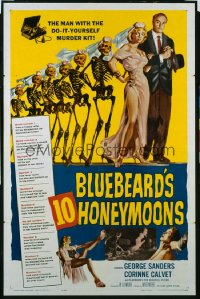 BLUEBEARD'S 10 HONEYMOONS 1sheet