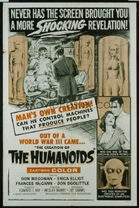 CREATION OF THE HUMANOIDS 1sheet