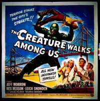 CREATURE WALKS AMONG US six-sheet