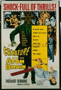 CREATURE WITH THE ATOM BRAIN 1sheet