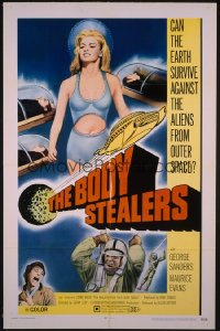 BODY STEALERS 1sh '70 great image of sexy Lorna Wilde, the beautiful face from outer space!
