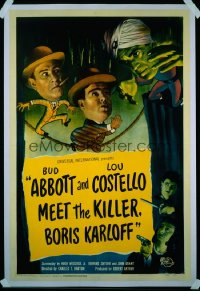 ABBOTT & COSTELLO MEET THE KILLER BORIS KARLOFF 1sheet