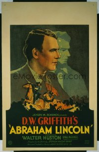 ABRAHAM LINCOLN WC '30 Walter Huston in the title role, D.W. Griffith directed!