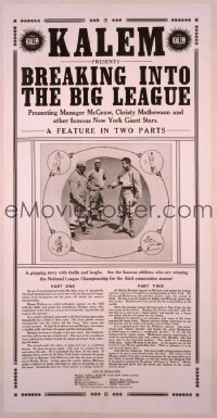029 BREAKING INTO THE BIG LEAGUE trade ad 1913