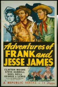 ADVENTURES OF FRANK & JESSE JAMES 1sheet