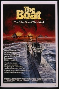 DAS BOOT style B int'l 1sh '82 The Boat, Wolfgang Petersen, WW II, Meyer submarine art!