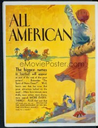 186 ALL AMERICAN ('32) campaign book ad 1932