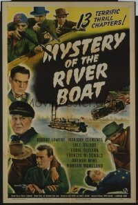 100 MYSTERY OF THE RIVER BOAT entire serial 1sheet