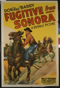 FUGITIVE FROM SONORA 1sheet