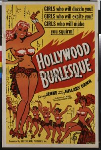HOLLYWOOD BURLESQUE 1sheet