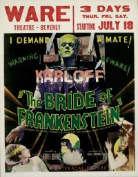 117 BRIDE OF FRANKENSTEIN framed jumbo WC