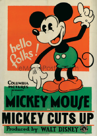 087 MICKEY CUTS UP paperbacked 1sheet