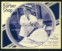 #176 BARBER SHOP lobby card '33 W.C. Fields giving close shave!!