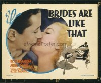 1123 BRIDES ARE LIKE THAT title lobby card '36 Anita Louise kissed!