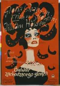 v063 SUNSET BLVD  Polish 22x33 '50 wild striking image!