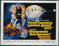 #366 DIAMONDS ARE FOREVER 1/2sheet71 Connery