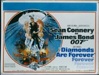 #365 DIAMONDS ARE FOREVER British quad '71