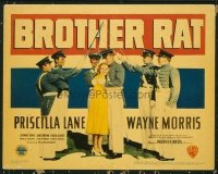 1125 BROTHER RAT title lobby card '38 Ronald Reagan, Priscilla Lane