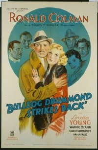 228 BULLDOG DRUMMOND STRIKES BACK ('34) 1sheet
