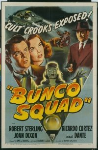 #118 BUNCO SQUAD 1sheet50 Sterling, film noir