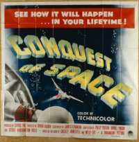 #045 CONQUEST OF SPACE 6sheet '55 George Pal