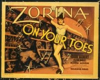 1283 ON YOUR TOES title lobby card '39 Zorina, Eddie Albert