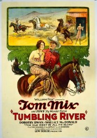 #231 TUMBLING RIVER 1sheet27 Tom Mix, western