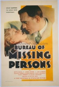 053 BUREAU OF MISSING PERSONS linen 1sheet